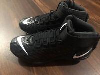 Nike Men's Force Savage Pro 2 TD Football Cleats Size 10 Black White