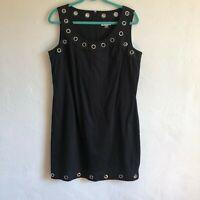 Calvin Klein Black Rivet Sleeve Less Dress Women's Size 12