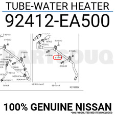 92412EA500 Genuine Nissan TUBE-WATER HEATER 92412-EA500
