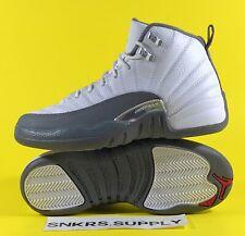 Air Jordan 12 Retro (GS) White Dark Grey Big Kids Shoes Size 5Y/W 6.5 153265-160
