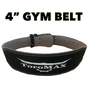 Golds ToroMax Gym Weight Lifting Belt Leather Lumbar Back Support Power Training