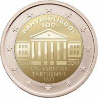 Rolle 25 * 2 euro Estland 2019 100. Jahrestag der Gründung der Universität Tartu