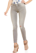 NWT Miss Me Blowout Detail Distressed Skinny Jeans Light Gray MS5151S262 Sz 29