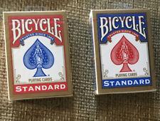 2 (due) Mazzi di carte Bicycle Poker regolari Standard dorso Rosso e Blu