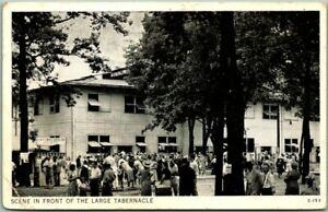 """Anderson, Indiana Postcard """"Scene in Front of the Large Tabernacle"""" 1946 Cancel"""
