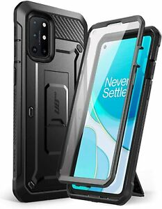 SUPCASE for OnePlus 8T, Full Body Rugged Screen Case Holster Stand Cover BLACK
