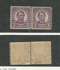 United States, Postage Stamp, #600 Line Pair Mint NH, 1924 President Lincoln
