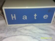 Metal Light Up Lamp 2 Sided Love Hate Sign