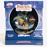 Gemmy Airblown Inflatable Rudolph The Red Nosed Reindeer Snow Globe