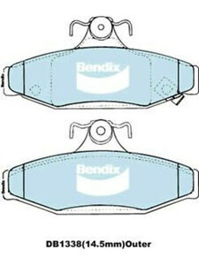 1 set x Bendix 4WD And SUV Brake Pad FOR SSANGYONG MUSSO FJ (DB1338-4WD)