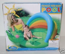 Intex Froggy Fun Baby POOL with Sun Shade Outdoor 12 Gallon Age 1-3 NEW in box!