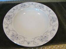 JOHANN HAVILAND BAVARIA GERMANY CHINA SOUP BOWL RHINELAND BLUE ROSES GREY SCROLL
