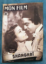 RIVISTA MON FILM N°112 1948 GENE TIERNY, VICTOR MATURE - SHANGAI        8/16