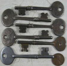 6 Antique Skeleton Steel Door Keys