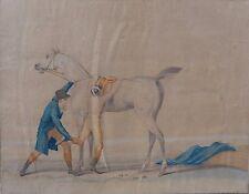 Gravure XVIIIe, Carle Vernet, Jockey, cheval, Engraving, Horse, 18th.