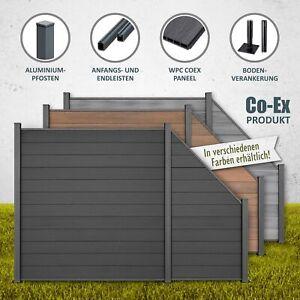 WPC Zaun Lamellenzaun Gartenzaun Terrasse Sichtschutzzaun anthrazit braun grau