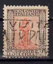 LIBIA 1926 Pittorica 1 Valore 15c Dent 11 USATO (CL)