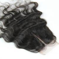 "100% Virgin Human Hair Brazilian Remy 4x4'' Bodywave Top Lace Unprocessed 10"""