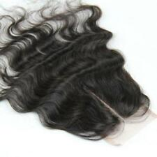 100% Virgin Human Hair Brazilian Remy 4x4'' Bodywave Unprocessed Top Lace Closur