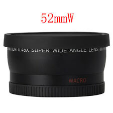 52mm Digital 0.45X Super Wide Angle Fisheye Lens Macro for Canon Nikon AF Black