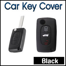 CAR KEY COVER SILICONE Protector Fits Peugeot 3B 208 508 2008 307 407 4008 Black
