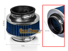"""2.5"""" Inlet Cold Air Intake Universal ByPass Valve Filter BLUE For Chevrolet 2"""