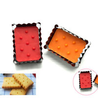 Baking Tools Fondant Cake Mold Cookie Cutter Plunger Mould Biscuit Rectangle