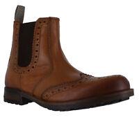 catesby Hombre Cuero Marrón Punta De Ala Zapatos Oxford Chelsea Botas