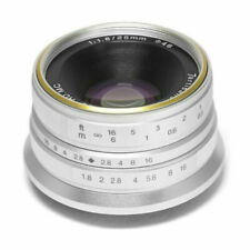7artisans 25mm f/1.8 Manual Focus Lens for Fujifilm X Mount Cameras (Silver)