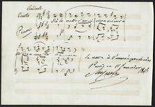 Michele CARAFA (Composer): Autograph Musical Quotation