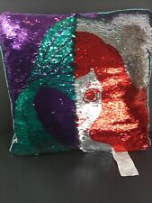 Disney Princess Reversible / Flip Sequin Pillow - Little Mermaid 20""