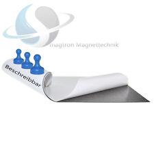 Eisenfolie - weiß, selbstklebend, BESCHREIBBAR - 620 x 1000 x 0,6mm Magnetfolie