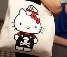 Brand New Johnny Cupcakes X Hello Kitty Tote Khaki Bag Rare Collectible