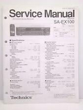 Technics Original Service Manual SA-EX100 Receiver