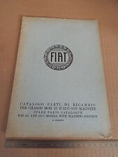 CATALOGO PARTI DI RICAMBIO ORIGINALE 1930 FIAT 521 -C CON MAGNETE