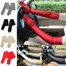 Women Long Gloves Stretch Etiquette Party Wedding Driving Opera Gloves Solid New