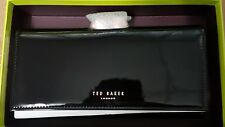Twisted Double Bobble Patent Matinee Large Ted Baker Purse Black Pink Brand New