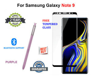 S Pen For Samsung Galaxy NOTE 9 + FREE Tempered Glass Stylus Replacement PURPLE