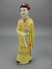 Antique Chinese Famille Verte   Statue ~ 12~ CHINA mark Circa 1900