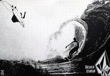 VOLCOM 2003 Bruce Irons B&W surfing promo poster ~NEW old stock MINT condition~!