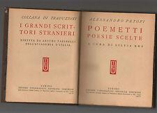 alessandro petofi - poemetti - utet serie i grandi scrittori stranieri - marzdod