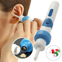 Electric Cordless Vacuum Ear Cleaner Ear Wax Safe Remover Cleaning Easy Tool US