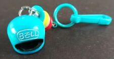 VTG 80s Plastic Bike Helmet Charm & Bell For Clip On Charms Necklace