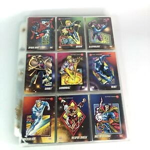 1992 Marvel Impel Universe Series 3 Trading Cards Complete Set #1-200 + 5 Holo's