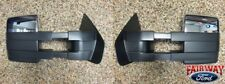07 thru 14 F-150 OEM Ford Memory Heat Chrome Telescopic Trailer Tow Mirrors PAIR