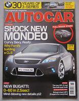 Autocar magazine 6/9/2005 featuring Mazda, Ford, BMW, Jaguar XKR