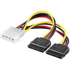 """0,13 m PC Stromkabel Y-Adapter IDE 5,25"""" Stecker > 2 x SATA Buchse 15-polig 5630"""