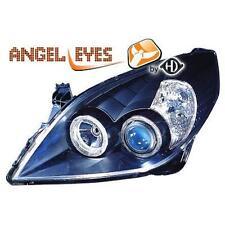 Par faros delanteros TUNING OPEL VECTRA 05-08 negro anillos OJOS DE ANGEL