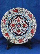 Turkish handmade ceramic plate - washable in hot water