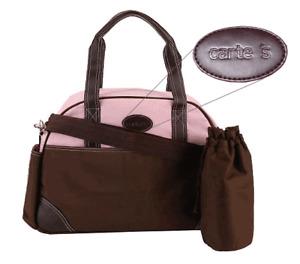 Carter's CA1441 Ultimate Diaper Bag - Brown / Pink